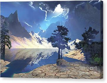 Sunrays Shine Down On This Beautiful Canvas Print by Corey Ford