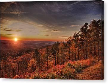 Sunrise 2-talimena Scenic Drive Arkansas Canvas Print by Douglas Barnard