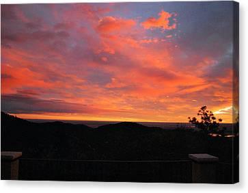 Sunrise Above Boulder-photo Canvas Print