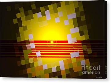 Sunrise Abstract Digital Painting  Canvas Print by Heinz G Mielke