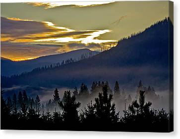 Sunrise And Valley Fog Canvas Print by Albert Seger
