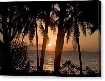Sunrise At Bali Island Canvas Print by Tim Laman