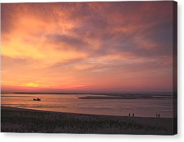 Chatham Canvas Print - Sunrise At Lighthouse Beach Chatham Cape Cod by John Burk