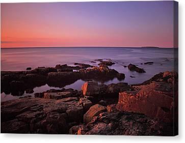 Sunrise At Otter Point Canvas Print