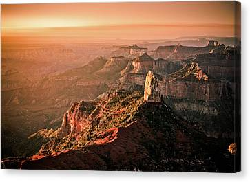 Sunrise At Point Imperial, Grand Canyon North Rim Canvas Print by California CPA