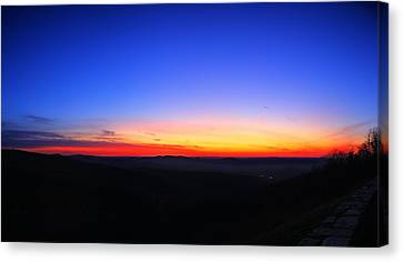 Sunrise At Skyline Drive Canvas Print by Metro DC Photography