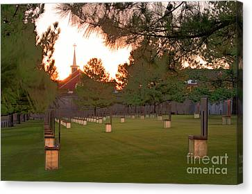 Sunrise At The Alfred P Murrah Memorial II Canvas Print by Tamyra Ayles