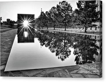 Sunrise At The Alfred P Murrah Memorial Canvas Print by Tamyra Ayles
