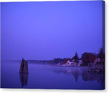 Sunrise At Wolfeboro Bay Canvas Print by Stephen Smith