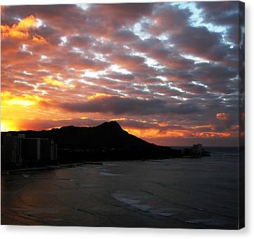 Sunrise Diamond Head I Canvas Print