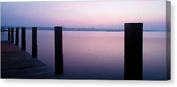 Sunrise Dock Canvas Print