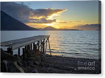 Sunrise Dock Canvas Print