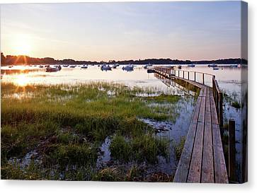 Sunrise In Chatham Canvas Print by Nick  Shirghio