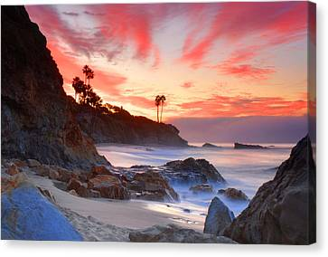 Sunrise In Laguna Beach Canvas Print
