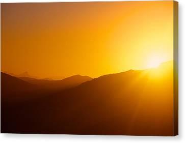 Sunrise In Namib Desert Canvas Print by Matthias Siewert