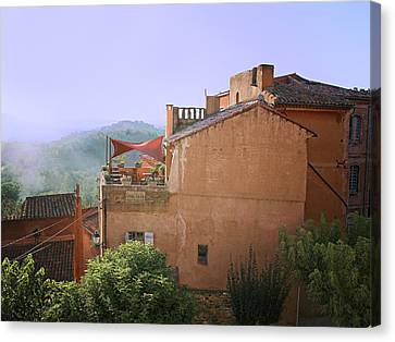 Sunrise In Roussillon Canvas Print by Sandra Anderson