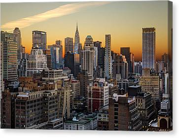 Sunrise In The City II Canvas Print by Janet Fikar