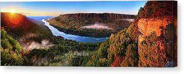 Sunrise In The Gorge Canvas Print