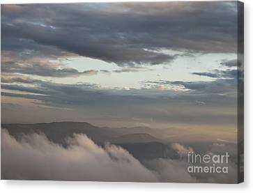 Canvas Print featuring the photograph Sunrise In The Mountains by Jeannette Hunt