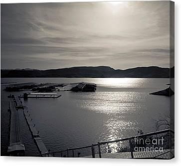 Sunrise Lake Pleasant Canvas Print by Arne Hansen