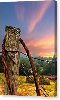 Sunrise Lasso Canvas Print by Debra and Dave Vanderlaan