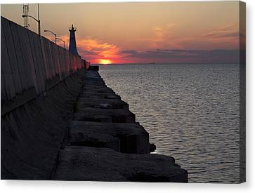 Canvas Print featuring the photograph Sunrise by Nick Mares