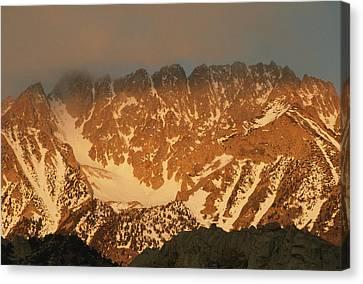 Sunrise On Basin Mountain, Above Owens Canvas Print
