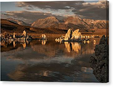 Sunrise On Mono Lake Canvas Print