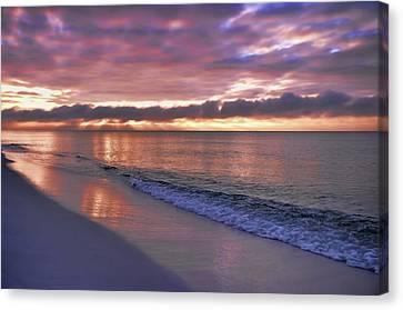 Sunrise On Navarre Beach Canvas Print