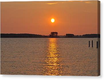 Sunrise On St. George's Island Canvas Print