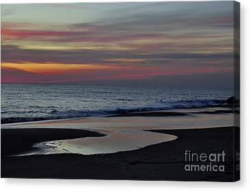 Sunrise On The Beach Canvas Print by Tamera James