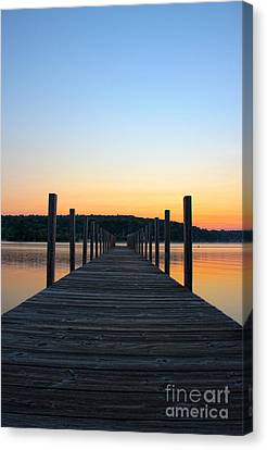 Sunrise On The Docks Canvas Print by Michael Mooney