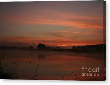 Sunrise On The River Canvas Print by Torsten Dietrich