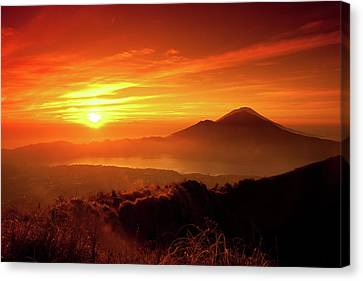 Sunrise Oover Mountain Landscape Canvas Print by Dennis Stauffer / www.zoomion.ch