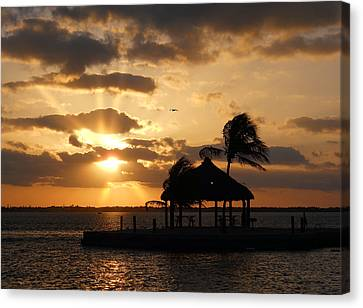 Canvas Print featuring the photograph Sunrise Over Bay by Clara Sue Beym
