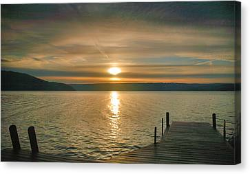 Keuka Lake Canvas Print - Sunrise Over Keuka by Steven Ainsworth