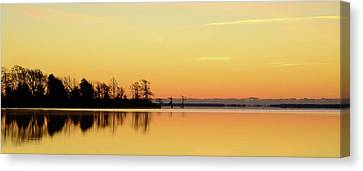 Sunrise Over Lake Canvas Print by Patti White Photography