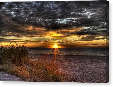 Sunrise Over New York Bay Canvas Print