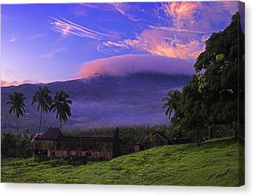 Canvas Print featuring the photograph Sunrise Over Plantation Ruins- St Lucia by Chester Williams