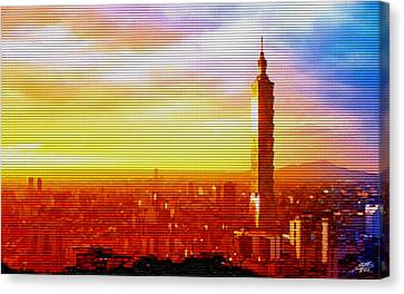 Sunrise Over Taipei Canvas Print by Steve Huang