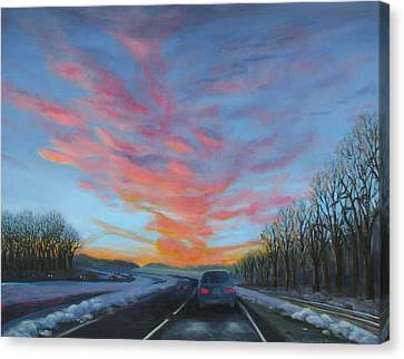 Sunrise Over The Highway Canvas Print
