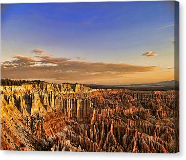 Sunrise Over The Hoodoos Canvas Print by Anne Rodkin