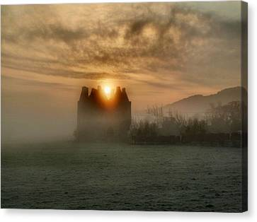 Sunrise Over The Tower Canvas Print