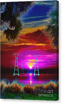 Sunrise Psychedelic Canvas Print by Lynda Dawson-Youngclaus