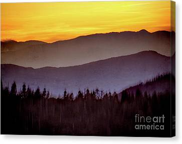 Sunrise Ridges Canvas Print by Arne Hansen
