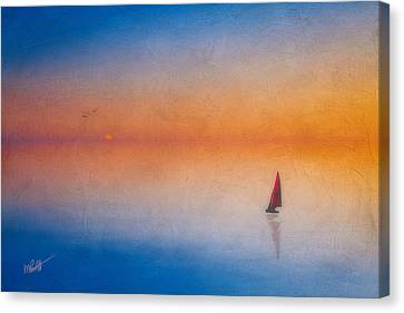 Cape Cod Canvas Print - Sunrise Sail by Michael Petrizzo