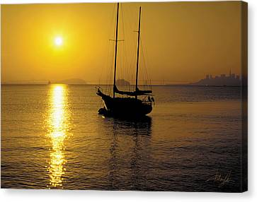 Sausalito Canvas Print - Sunrise Sailing by Richard Leon