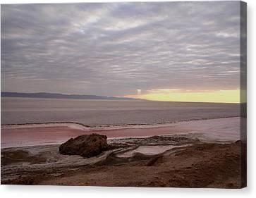 Sunrise Salt Lake - Tunisia  Canvas Print by Simona  Mereu