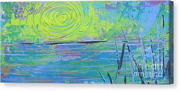 Sunrise Sunset 4 Canvas Print by Jacqueline Athmann