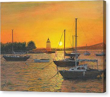 Sunrise Sunset Canvas Print by Stuart B Yaeger